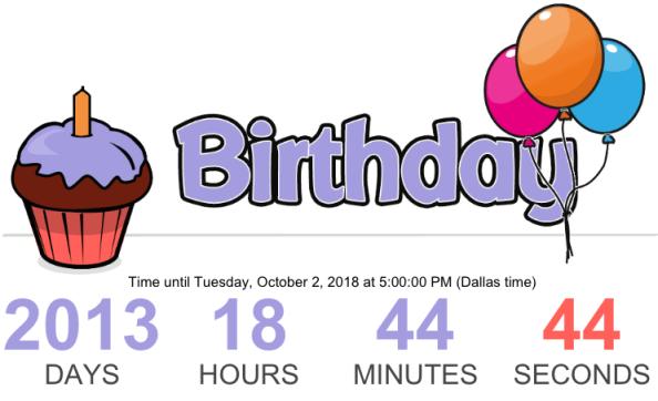 birthday countdown pic