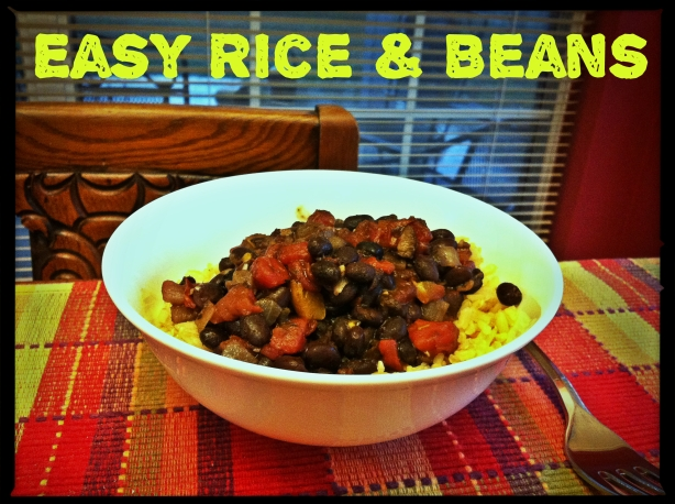 Easy Beans And Rice - a rainy day meal
