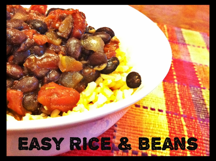 Easy Beans And Rice - side shot