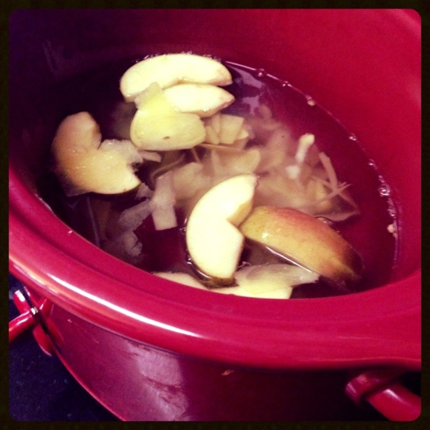 Ginger Tea In Crock Pot