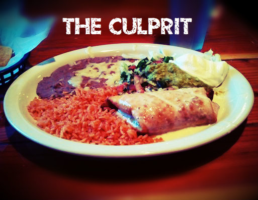 shrimp chimichanga el tapatio the culprit