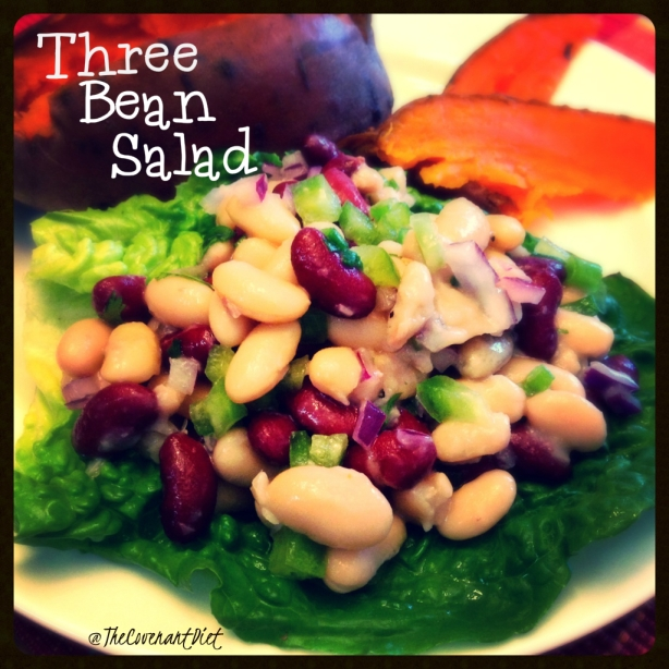 three bean cold summer salad