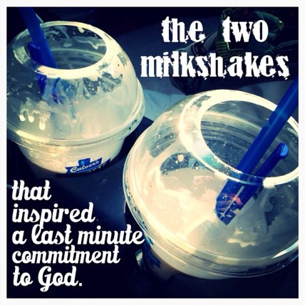 two milkshakes